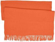PIECES Pcjira Wool Scarf Noos, Sciarpa Donna, Arancione (Picante), Taglia Unica