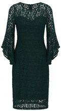 APART Fashion Black-Dip Dye, Vestito Donna, Verde Midnight Forrest, 46