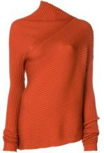 - Marques'almeida - Vestito asimmetrico a coste - women - lana merino - M, L - di colore arancione