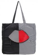Shopping bag - red/black/white