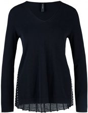 Marc Cain Collections KC 41.34 M07, Maglione Donna, (Midnight Blue 395), 46