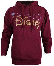 Disney Logo, Felpa Donna, Rosso (Burgundy Bur), 44(Dimensioni Produttore: Medium)