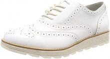 s.Oliver 23651, Scarpe Stringate Brouge Donna, Bianco (White Comb.), 40 EU