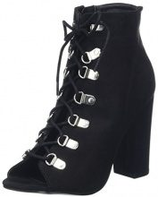 New Look Lace-Up High Sandal, Stivaletti Donna, Nero (Black 1), 37 EU