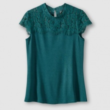 T-shirt in pizzo