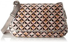 Oilily Lori Geometrical Diaperbag Lhf - Borse a tracolla Donna, Rosa (Rose), 16x30x44 cm (B x H T)