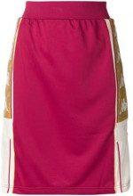 - Kappa - logo band skirt - women - fibra sintetica - XS - di colore rosso