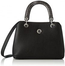 Tommy Hilfiger Th Core Med Satchel - Borsa Donna, Nero (Black), 13x18x26 cm (B x H T)