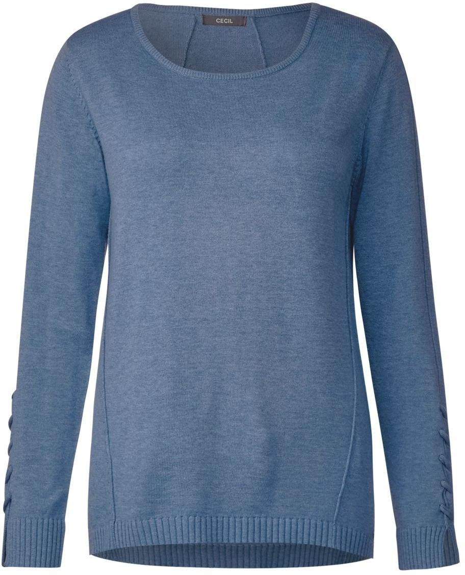 Light Maglione 300545 Melange Blue indigo 21316 Blu Donna Cecil PXwTZ