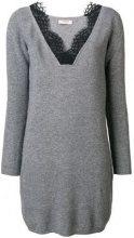 - Twin - Set - Vestito di maglia - women - cashmere/lana/fibra sintetica - M - di colore grigio