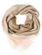 Sciarpa - taupe/white/rose