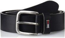 Tommy Hilfiger THD Flag Loop Belt 4.0CM, Cintura Uomo, Nero (Black), 80