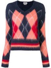 - Ballantyne - Maglione con motivo a rombi - women - mohair/lana/fibra sintetica - 42, 44, 40 - di colore blu