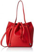 New Look Simone Slouch - Borse Tote Donna, Rosso (Bright Red), 14x29x25 cm (W x H L)
