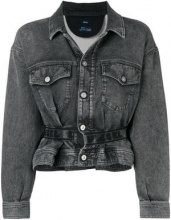 - Diesel - Karlyne peplum denim jacket - women - cotone/fibra sintetica - S, L - di colore grigio