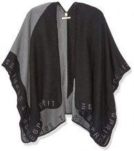 Esprit Accessoires 088ea1q025, Sciarpa Donna, Multicolore (Grey/Black 001), Small