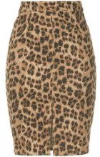 - Miaou - leopard print pencil skirt - women - cotone - S, M, XS , L - color marrone