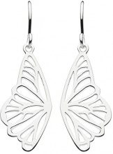 Dew 68080HP Orecchini pendenti, a forma di contorno di ala di farfalla, in argento Sterling