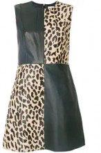 - Dvf Diane Von Furstenberg - vestito - women - cotone/pelle di agnello/cavallino - L - di colore nero