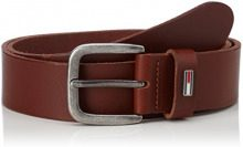 Tommy Jeans Uomo FLAG LOOP BELT 4.0CM Cintura   Marrone (Dark Tan 253) 90