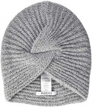 PIECES Pcfurbi Turban Hood, Cuffia Donna, Grigio (Light Grey Melange AOP: Solid), Taglia Unica