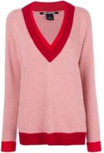 - Pinko - Maglione con scollo a V - women - cashmere/fibra sintetica/lana - S - di colore rosa