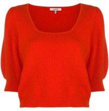 - Ganni - Poppy knit sweater - women - fibra sintetica/cotone - M, L - di colore rosso