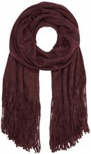PIECES Pcdrace Long Scarf Noos, Sciarpa Donna, Rosso (Port Royale), Taglia Unica