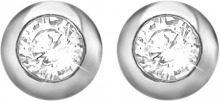 Orecchini lobo in argento 925 e zirconi per Donna