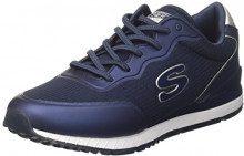 Skechers Sunlite-Vega, Sneaker Infilare Donna, Blu (Navy), 39 EU
