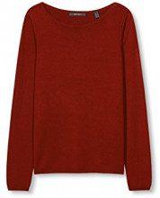 ESPRIT Collection 996eo1i903, Felpa Donna, Rosso (Garnet Red), 38 (Taglia Produttore: Medium)