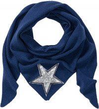 Scialle a triangolo con stella glitterata