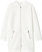FIND Long Jersey Bomber  Giacca Donna, Bianco (White), 42 (Taglia Produttore: Small)