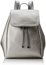 PIECES Pcflora Backpack - Borse a zainetto Donna, Argento (Silver Colour), 12x29x24 cm (B x H T)