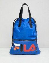 Crow - Maxi borsa shopper blu con bretelle rimovibili