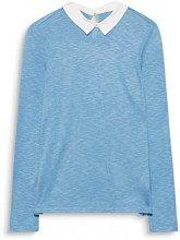 ESPRIT 998ee1k805, Maglia a Maniche Lunghe Donna, Blu (Grey Blue 5 424), Small