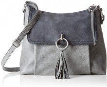 s.Oliver (Bags) Shoulder Bag - Borse a spalla Donna, Grigio (Slate Grey), 8x24x31 cm (B x H T)
