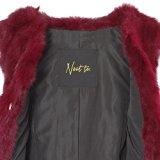 Elegante giacca in vera pelliccia di coniglio nei colori beige-bordeaux-talpa-nero di Neat to., NATAL