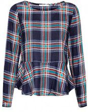 edc by Esprit 108cc1f002, Camicia Donna, Blu (Navy 2 401), Small