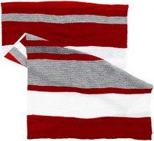 s.Oliver 39.810.91.4094, Sciarpa Donna, Rot (Red Stripes 38g1), Unica (Taglia Produttore: 1)
