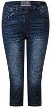 Cecil 371481 Toronto Galon-Streifen, Jeans Slim Donna, Blu (Mid Blue Wash 10281), W27