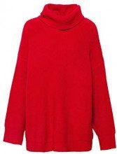 ESPRIT 098ee1i029, Felpa Donna, Rosso (Red 630), Medium