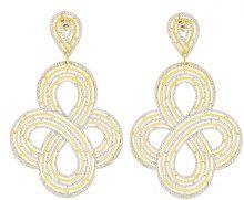 Orecchini in argento 925 dorato e glitter per Donna