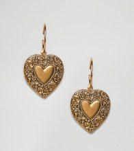 Lovestruck - Orecchini a cerchio con cuore pendente