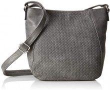 s.Oliver (Bags) 39.808.94.3860 - Borse a tracolla Donna, Grigio (Smoked Pearl), 8x20,5x25 cm (B x H T)