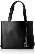 PIECES Pcillu Shopper - Borse a spalla Donna, Nero (Black), 18x31x44 cm (B x H T)
