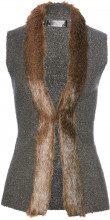Gilet in maglia con ecopelliccia