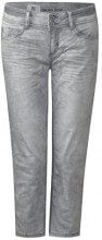 Street One 371459 Crissi, Jeans Slim Donna, Grigio (Soft Grey Random Bleach 11449), 33W x 26L
