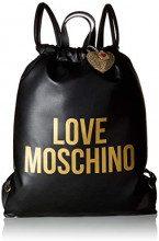 Love Moschino Borsa Pu - Borse a zainetto Donna, Nero (Nero-Stampato Oro), 1x41x35 cm (B x H T)