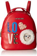 Love Moschino Borsa Pu - Borse a zainetto Donna, Rosso, 10x22x20 cm (B x H T)